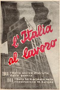Volantino di propaganda del dopoguerra
